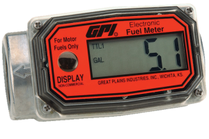 "GPI 01A31GM 1"" Aluminum Electronic Digital Fuel Meter"