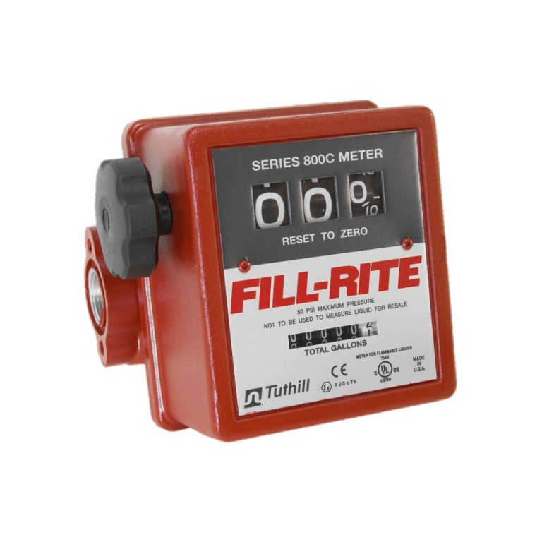"Fill Rite 807C 3/4"" 3-Wheel Mechanical Meter"