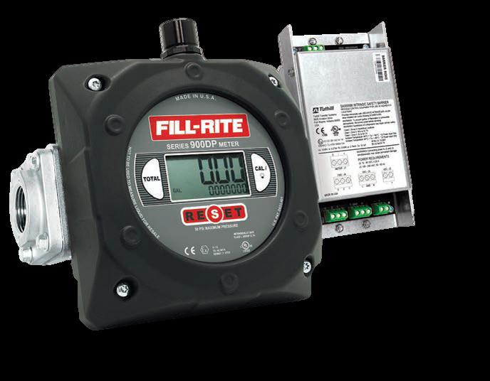 """Fill-Rite 900CDP1.5BSPT 1.5"""" Digital Display Meter with Pulser Barrier, BSPT Threaded"""
